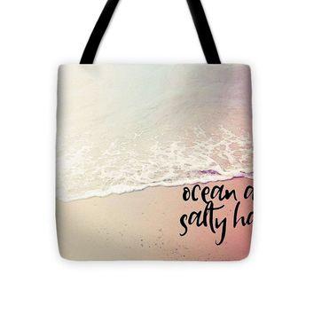 Ocean Air, Salty Hair, Watercolor Art By Adam Asar - Asar Studios 1 - Tote Bag