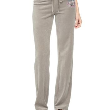 Logo Jc Collegiate Velour Original Pant by Juicy Couture,