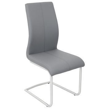 Lumisource Berkeley Dining Chair Grey in Black
