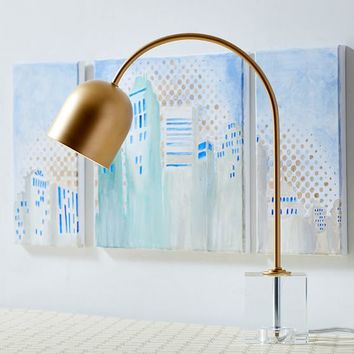 Crystal Cube Base Task Lamp
