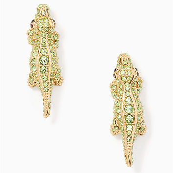 swamped pave alligator studs | Kate Spade New York