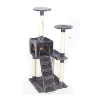 Domestic Delivery Cat Scratchers Toy Wood Climbing Tree Cat Jumping Toy with Ladder Climbing Frame Cat Furniture Scratching Post