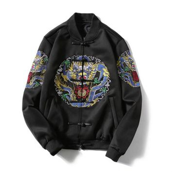 cc auguau Chinese Embroidery Bomber Jacket
