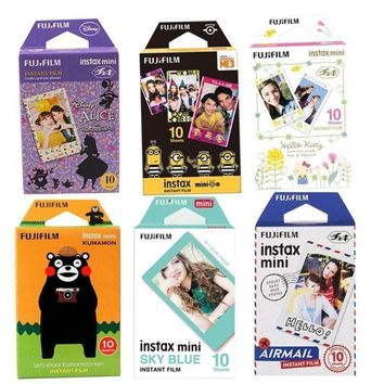 Fujifilm Instax Mini 8 Film 10 Sheets Blue Rilakkuma Hello Kitty Fuji Photo Paper For 70 50s 7s 90 25 SP2 LOMO Instant Camera