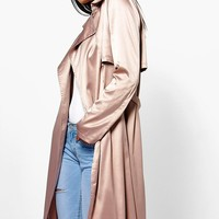 Boutique Millie Silky Midi Trench