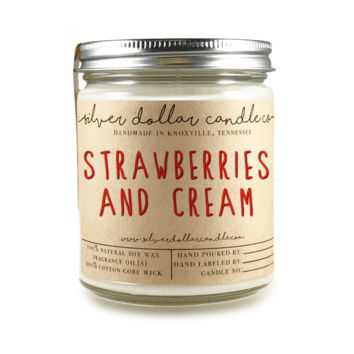 Strawberries & Cream - 8oz Soy Candle