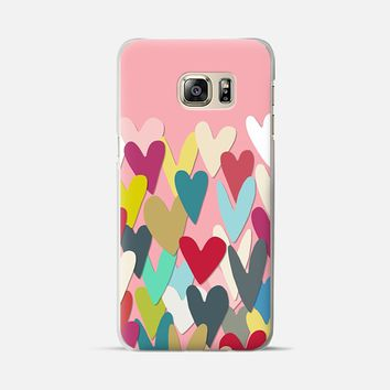 confetti hearts pink Samsung Galaxy S6 Edge+ case by Sharon Turner   Casetify
