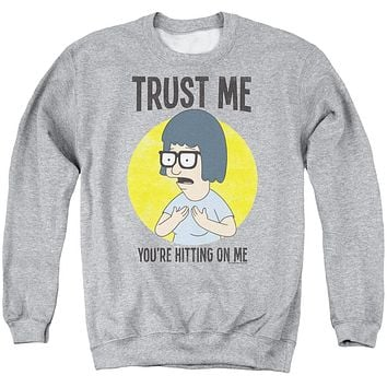Bobs Burgers - Trust Me Adult Crewneck Sweatshirt Officially Licensed Apparel