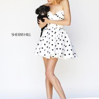 2014 Sherri Hill Short White Homecoming Dress 21258