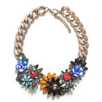 JEWELLED FLOWERS NECKLACE - Accessories - Woman - New collection | ZARA United States
