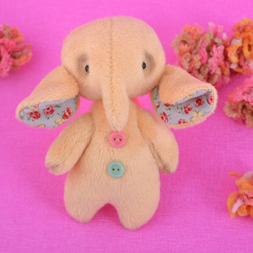 Cute handmade soft toy rag doll stuffed elephant toy home design gifts for kids