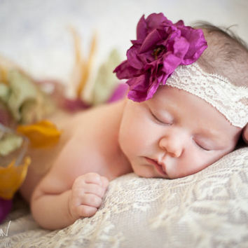 Newborn Tutu & Headband SET, Mardi Gras Colors/Multicolored, newborn props, lace tie back, baby girl, baby tutu