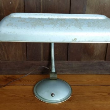 Vintage Metal Mid Century Cannon Products Desk Lamp