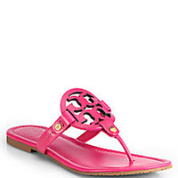 Tory Burch - Miller Patent Leather Logo Thong Sandals - Saks Fifth Avenue Mobile