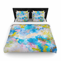 "Ebi Emporium ""When We Were Mermaids"" Blue Yellow Woven Duvet Cover"