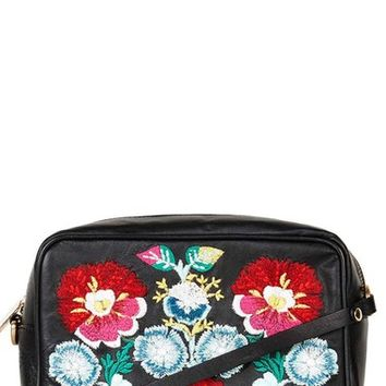 Topshop Floral Embroidery Crossbody Bag | Nordstrom