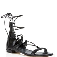 Stuart Weitzman Tiedup Lace Up Gladiator Sandals | Bloomingdales's