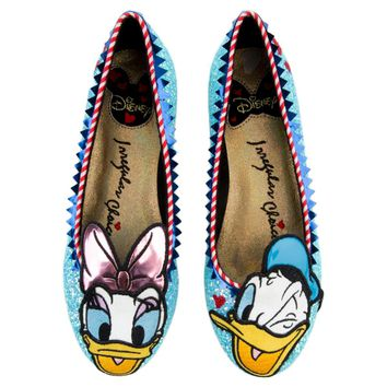 Irregular Choice Mickey Mouse & Friends Collection Women's Whoa! Blue Flat