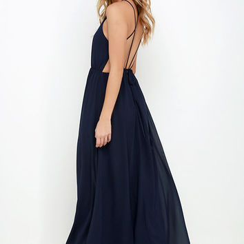 Comet's Tale Midnight Blue Maxi Dress