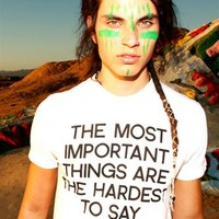 THE MOST IMPORTANT THINGS VINTAGE BURNOUT TEE