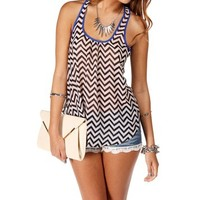 Black Envelope Chevron Top