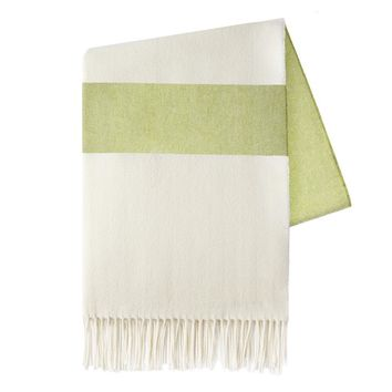 Sydney Herringbone Stripe Throw | Lemongrass