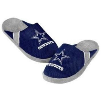 DCCK8X2 NFL Dallas Cowboys Jersey Slippers [Men's X-Large - Size 13-14 US]