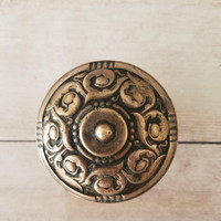 Antique Victorian Door Knob/ Ornate Brass Door Knob/ Antique Brass Door Knob/ Victorian doorknob/ Shabby Chic Door Knob/ Ornate Brass Knob