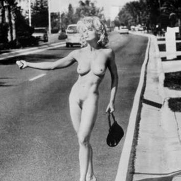 Madonna Hitchhiker Nude Poster Standup 4inx6in
