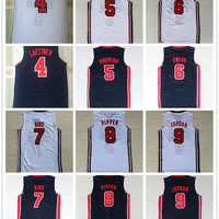 Stitched High quality 1992 USA dream team basketball jerseys