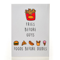 Foods Before Dudes Notebook