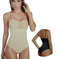 SPAGETTI TOP BODY SUIT SHAPER PANTY STYLE hot shapers bodysuit, Seamless women slimming bodys shaper crop top,