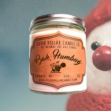 Bah Humbug Candle, Funny Christmas gift idea | Christmas Gifts | funny xmas | Dad Christmas, Husband Gift, Christmas gift ideas