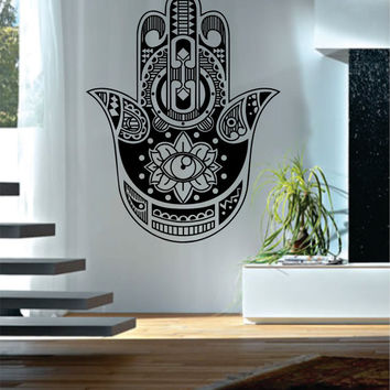 Hamsa Hand Version 9 Design Decal Sticker Wall Vinyl Decor Art