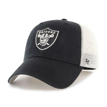 OAKLAND RAIDERS '47 BRAND BLUE HILL CLOSER HAT BY 47 BRAND