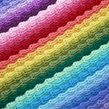 Chasing Rainbows Blanket, Afghan, Throw, Baby