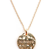 Be Happy Necklace | Dainty Necklaces at Pink Ice