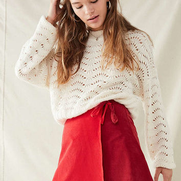 Urban Renewal Remade Corduroy Mini Wrap Skirt | Urban Outfitters