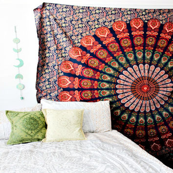 The Jacie Elephant Mandala Boho Bohemian Wall Bed Table Beach Tapestry