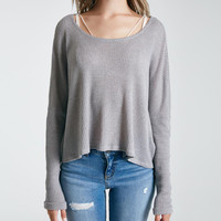 Slouchy Marled Lightweight Top | Wet Seal