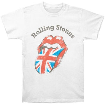 Rolling Stones Men's  Distressed Union Jack T-shirt White