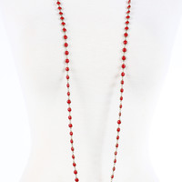 Betsy Pittard Designs Daisy Necklace - Red