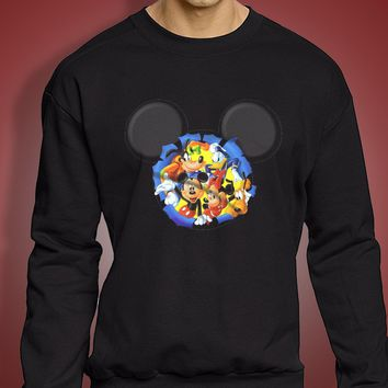 Disney Silhouettes Mickey Mouse And Frieds Men'S Sweatshirt