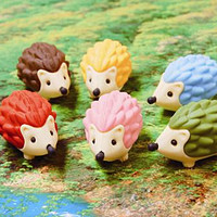 Hedgehog Eraser : Japanese eco-friendly erasers : Stubby Pencil Studio
