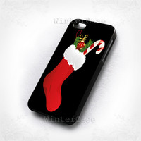 Christmas socks-photo print on hard plastic-iphone 4/4s case-iphone 5/5s/5c case-samsung galaxy s3-samsung galaxy s4