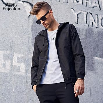 autumn hoodies Bomber jackets coat men,black solid fashion Men coats casual clothing