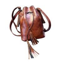 Awesome Hobo Tassel Tie Messenger Shoulder Bag  BROWN