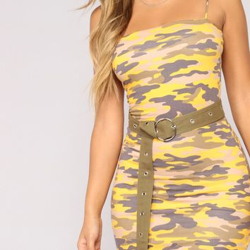 Cadet Karen Camo Dress - Yellow