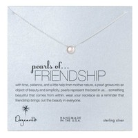 Dogeared Pearls of Friendship Necklace, Sterling Silver - Small
