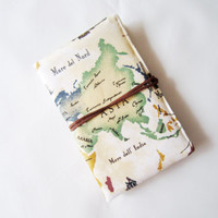 Passport Cover/ Travel Wallet/ Passport Holder/ Passport Organizer / World map pattern/ Ready to ship